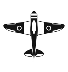 Military fighter plane icon simple style vector
