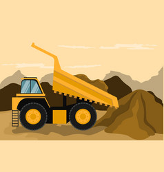 Mining truck doing construction and mining vector