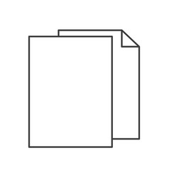 Monochrome silhouette of sheets in blank vector