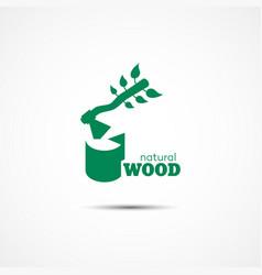 Natural wood logo vector
