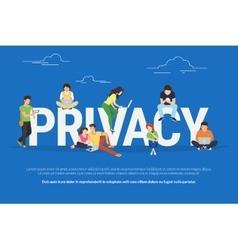 Privacy concept vector