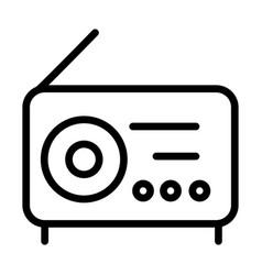 radio broadcating signal sound line style icon vector image