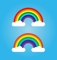 rainbow and cloud vector image