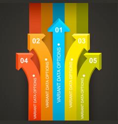 Rainbow arrows directed all vector