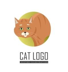 Red Cat Flat Design vector image