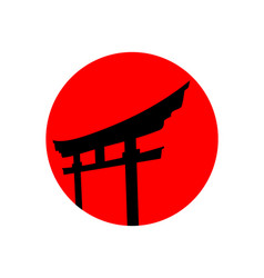 red japanese logo design inspiration vector image