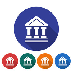 round icon of bank building ancient style vector image