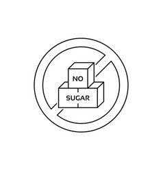 round linear label with no sugar text vector image