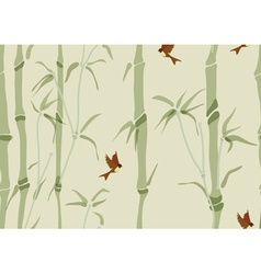 Seamless beautiful bamboo background vector image