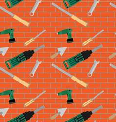 Seamless pattern with hand tools vector image