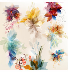Set of abstract floral elements for design vector