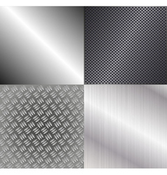 Set of metallic backgrounds vector image