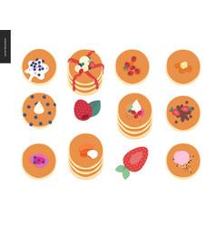 Set pancakes vector