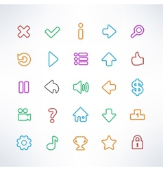 Simple game icons vector