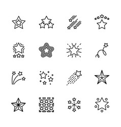 Simple icon set five star contains such symbols vector