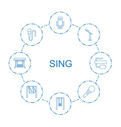 sing icons vector image