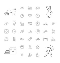 Speed icons vector