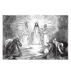 the transfiguration vintage vector image