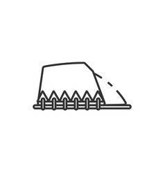 thin line hill icon vector image
