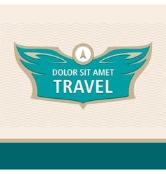 Travel logo vector image