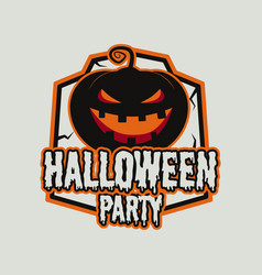 vintage halloween typography badge graphics vector image