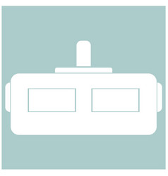 Virtual reality helmet the white color icon vector