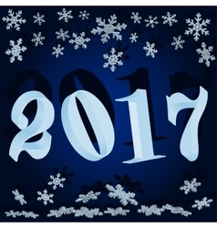Winter background New year 2017 vector image
