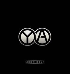 ya initial letter linked circle capital monogram vector image