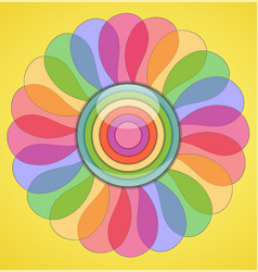 Abstract transparent colorful flower vector