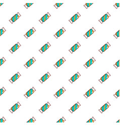 blue striped candy pattern vector image vector image