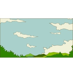 Idyllic landscape scene vector image