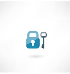 lock with key icon vector image