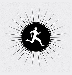 running desig vector image vector image