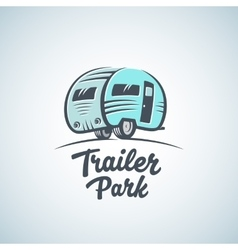 RV Van or Trailer Park Logo Template vector image vector image