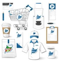 Set of corporate identity uniform flyer cart vector image vector image