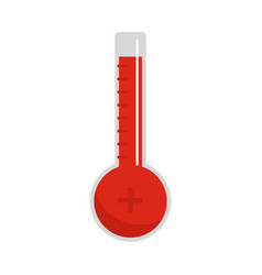 thermometer warmly icon flat style vector image