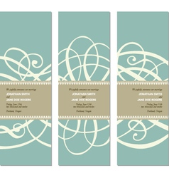 Wedding invite vector
