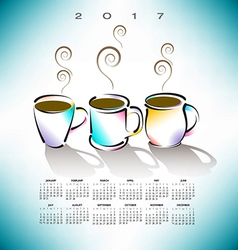 2017 Cal 3 Coffee Cups vector image vector image