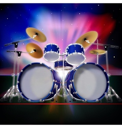 abstract music background with sunrise and drum vector image vector image