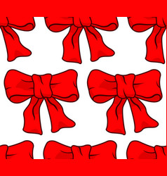 bow knot pattern vector image