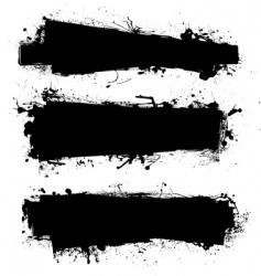 ink banner vector image vector image