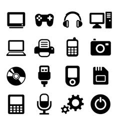 Multimedia gadget icons set vector image