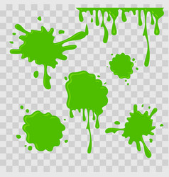 paint drop abstract green slime on vector image