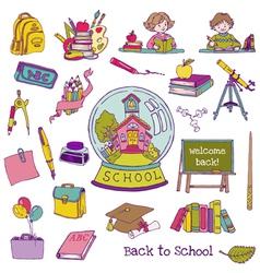 Scrapbook Design Elements - Back to School vector image vector image