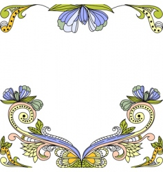 template for decorative background vector image vector image