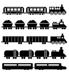 train and railroads vector image vector image