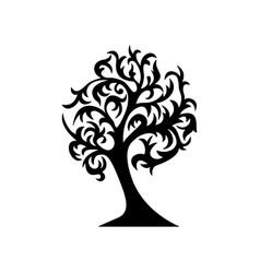 black tree silhouette vector image