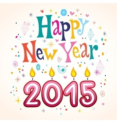 Happy New Year 2015 2 vector image vector image