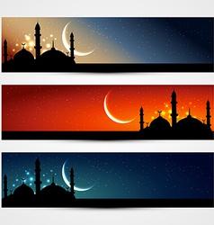 islamic headers vector image vector image