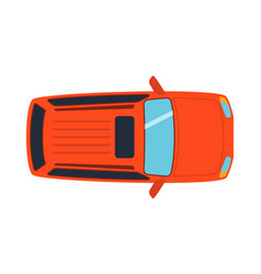 overhead top view on colorful car toy automobile vector image vector image